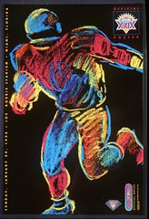 An official 1995 Super Bowl poster by artist Peter Max.