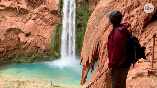 The turquoise Havasupai falls in the Grand Canyon are stunning. Here's how to experience them