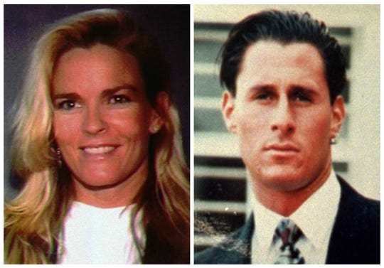 Victims Nicole Brown Simpson and Ron Goldman. Both were slain in Los Angeles on June 12, 1994. The Hall of Fame football star O.J. Simpson was charged with the murders.