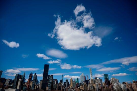 Midtown Manhattan on a sunny day.
