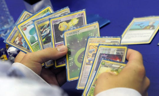 Pokémon card game competitions have been held around the world, often with hundreds of participants.