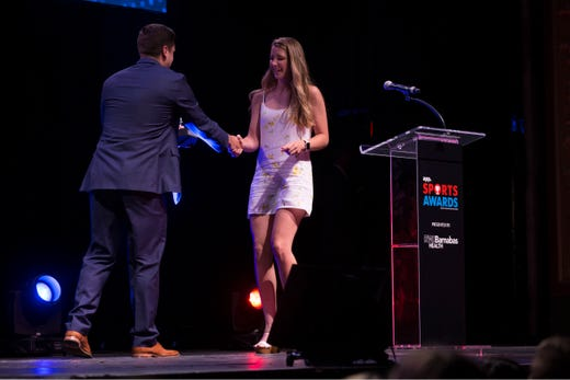 The Asbury Park Press  Sports Awards honor the top Shore Conference athletes from this past year with New York Jets quarterback Sam Darnold as guest speaker. Winner Paige Peters. 