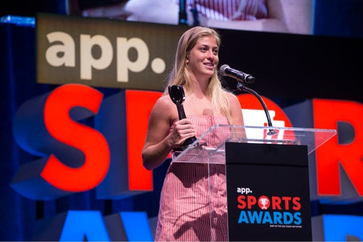The Asbury Park Press  Sports Awards honor the top Shore Conference athletes from this past year with New York Jets quarterback Sam Darnold as guest speaker. Winner Frankie McDonough. 