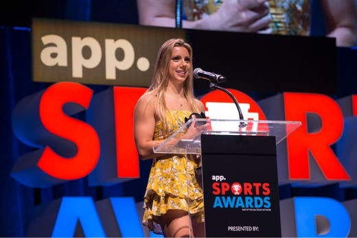 The Asbury Park Press  Sports Awards honor the top Shore Conference athletes from this past year with New York Jets quarterback Sam Darnold as guest speaker. Winner Victoria Ireland. 