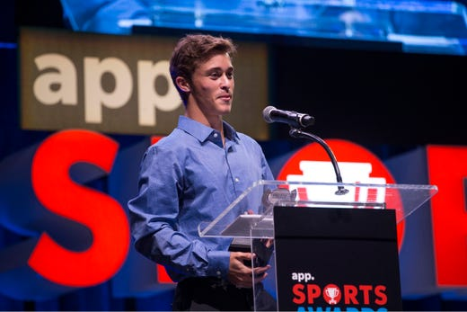 The Asbury Park Press  Sports Awards honor the top Shore Conference athletes from this past year with New York Jets quarterback Sam Darnold as guest speaker. Winner Eitan Khromchenko. 