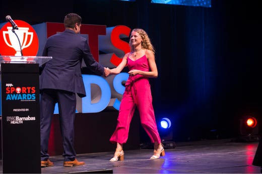 The Asbury Park Press  Sports Awards honor the top Shore Conference athletes from this past year with New York Jets quarterback Sam Darnold as guest speaker. Winner Lily Orr. 