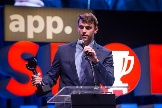 The Asbury Park Press  Sports Awards honor the top Shore Conference athletes from this past year with New York Jets quarterback Sam Darnold as guest speaker. Winner Steve Lubischer. 