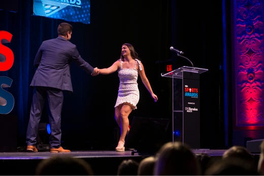 The Asbury Park Press  Sports Awards honor the top Shore Conference athletes from this past year with New York Jets quarterback Sam Darnold as guest speaker. Winner Juliette Moschella. 