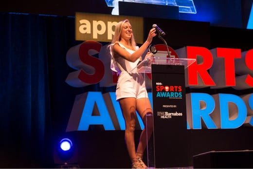 The Asbury Park Press  Sports Awards honor the top Shore Conference athletes from this past year with New York Jets quarterback Sam Darnold as guest speaker. Winner Janie Cowley. 
