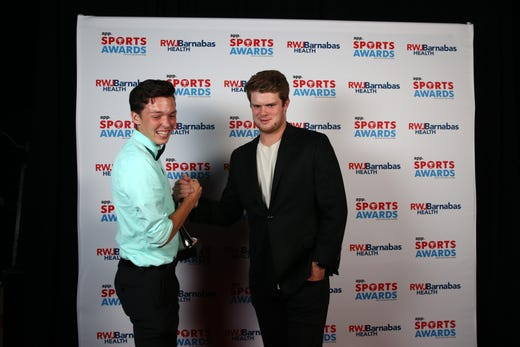 Devin Hart of Point Pleasant Boro High School, Boys Indoor Track Athlete of the Year, poses with New York Jets quarterback Sam Darnold during the Asbury Park Press Sports Awards at Count Basie Center for Arts in Red Bank, NJ Wednesday June 12, 2019.