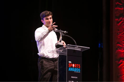 The Asbury Park Press  Sports Awards honor the top Shore Conference athletes from this past year with New York Jets quarterback Sam Darnold as guest speaker. Winner Anthony Arena. 