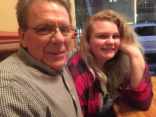 Hazlet's Michael Connallon with newfound granddaughter LauraAshley BuSha in North Carolina last year.