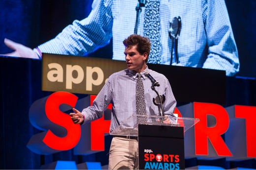 The Asbury Park Press  Sports Awards honor the top Shore Conference athletes from this past year with New York Jets quarterback Sam Darnold as guest speaker. Winner Trey Dombroski. 