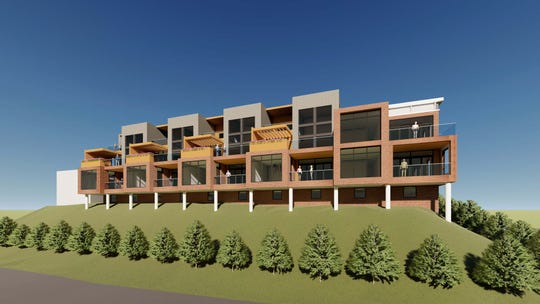 Rendering of the Southbank condominiums, planned for downtown Red Bank.