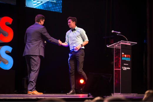 The Asbury Park Press  Sports Awards honor the top Shore Conference athletes from this past year with New York Jets quarterback Sam Darnold as guest speaker. Winner Devin Hart. 