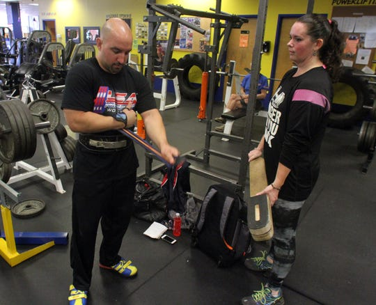 In 2015, Michael Ciupinski with then-fiancee Stacy Blumenthal, now his wife, working out at Pure Focus Sports Club in Brick.
