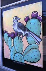"Jessalyn Beasley's mural replicates the Mockingbird in her children's book ""Little Birder"" still can be seen on the Wagstaff Building on North Fifth Street, between Cypress and Pine streets."