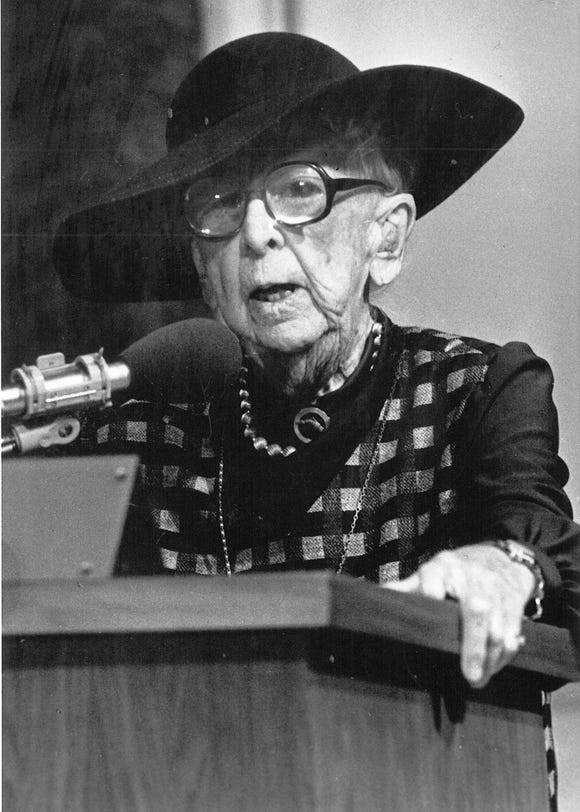 "Marjory Stoneman Douglas is one of the ""river heroes"" highlighted in the new documentary ""Guardians of Our Troubled Waters."""