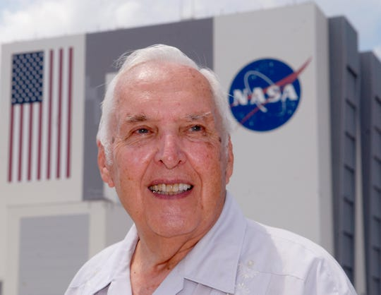 Hugh Harris worked in media relations for NASA from 1963-98. He was in Houston the night of the moon landing, July 20, 1969.