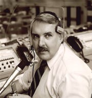 Hugh Harris, seen in 1981 at the start of the space shuttle program, Hugh Harris worked in media relations for NASA from 1963-98. He was in Houston the night of the moon landing, July 20, 1969.