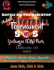 The Battle on the Blacktop annual basketball tournament - 3-on-3 youth and 5-on-5 adult - will be June 28, 29, and 30 at Yoctangee Park.