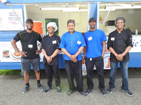 Isaiah, Seth, George Sr., George Jr. and Joshua Jones own and operate Grandmom Minnie's Munchies. The business is named for the elder George's mother and features homemade recipes passed down to George Sr. and now to his sons.