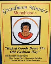 The logo for Grandmom Minnie's Munchies was designed by Merit Anna Jones, daughter of George W. Jones Sr. He started the business to use his mother's recipes and now wants to leave it as a legacy for his children.