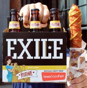 Exile Brewing Company's gold lager, Ruthie, to be first Official Craft Beer of the Iowa State Fair.