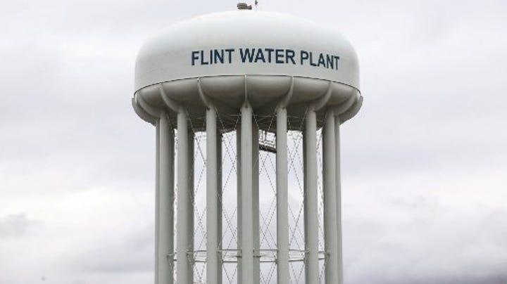 Flint water tower.