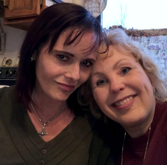 Tina Talbot and her friend Janene Staley.