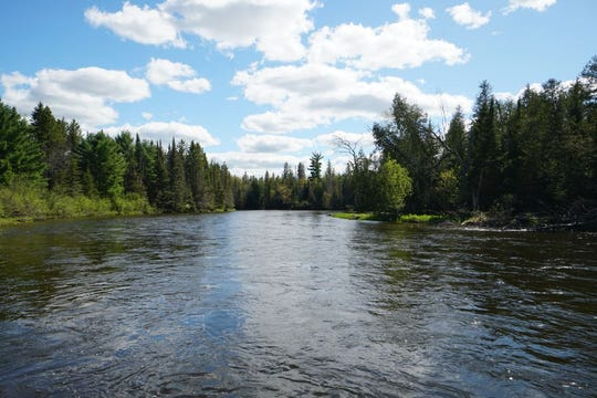 AuSable Wild and Scenic River at Davis Rest Stop in Oscoda County.
