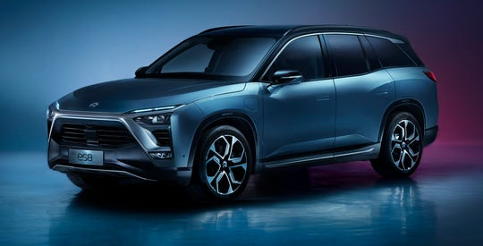 The ES8 is Nio's 7-seat, electronic flagship SUV.