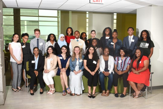 The 2019 Rosa L. Parks Scholars pose for a group photo at their luncheon.