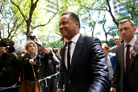 Actor Cuba Gooding Jr. arrives at the New York Police Department's Special Victim's Unit, Thursday, June 13, 2019 to face allegations he groped a woman at a city night spot.