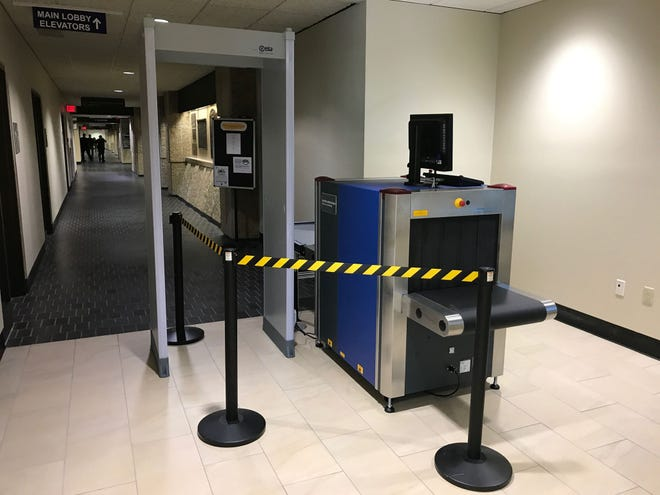 Equipment is in place for the new security checkpoint at the City County Government Center, which should be functioning by late July or early August.
