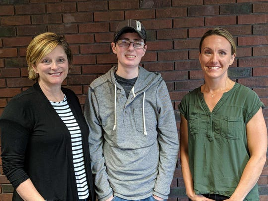 From left, Tammy Kissell, Nicholas Kissell and Dr. Susan Smith are raising funds towards research for a cure of Kearns-Sayre Syndrome, a rare mitochondrial disease Nicholas suffers from.