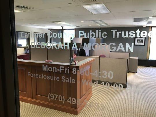 The Larimer County Public Trustee Office is in the Key Bank building, 125 S. Howes St., in Fort Collins.