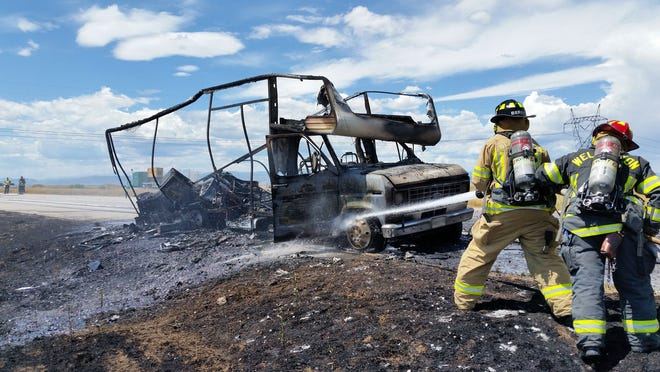 Wellington firefighters conduct live fire training with Poudre Fire Authority. The two agencies collaborate on training often, and they are in talks on how they can continue to work together.