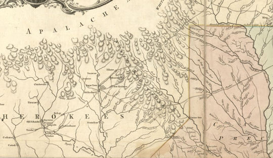 Mouzon's map of the Carolinas circa 1775