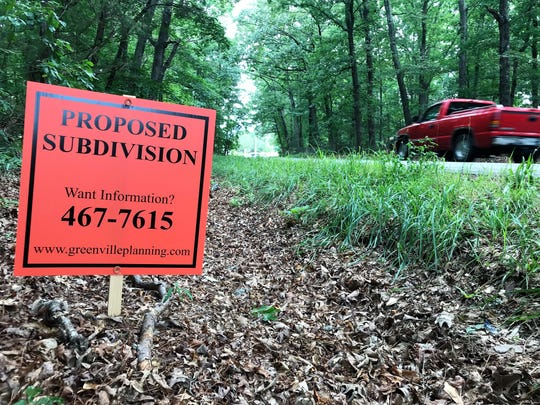 A sign alerts passersby on Wednesday, June 12, 2019, that 293 acres of Hollingsworth Funds land off Old Pelzer Road has been proposed for a subdivision. A developer wants to build 870 new homes on the site.