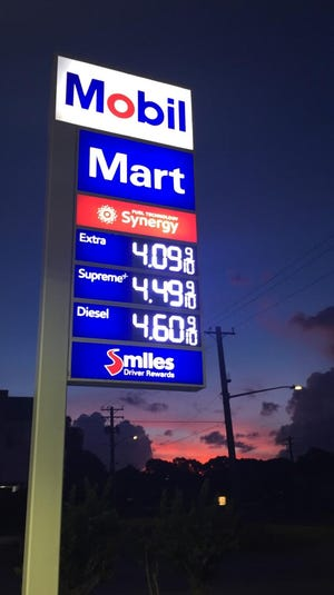 Gas prices decrease to $4.10 on June 13, 2019.