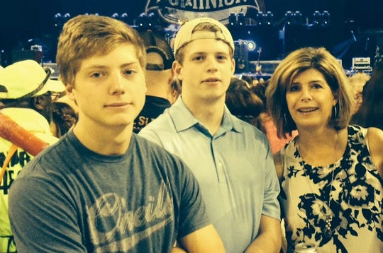 Becky Savage with her sons, Jack (left) and Nick. She wants their lives to have made a difference.