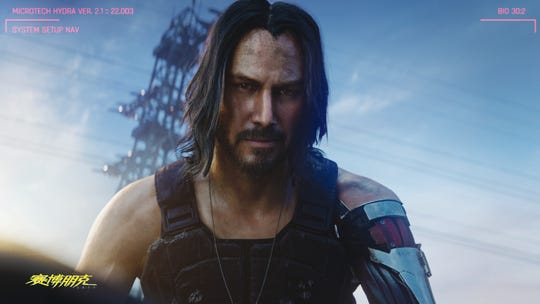 """Cyberpunk 2077,"" co-starring Keanu Reeves, will be released April 16, 2020, on PlayStation 4, Xbox One and PC."