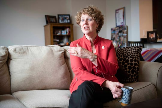 Rep. Susan Brooks, R-Ind., is interviewed in her Washington, D.C. apartment on June 13, 2019 about her decision not to seek a fifth term.