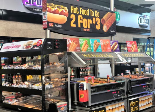 Hot food to go selection has been increased at the Gibbs Weigel's store.