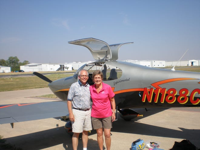 Sam and Judy Robinson offer kids a chance to fly in their airplane through the Young Eagles program.
