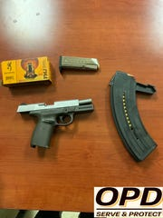 A gun and ammunition Opelousas Police said it found on a juvenile.