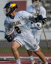 Hartland's Bo Lockwood is the first Livingston County freshman to make first-team all-state in boys lacrosse.