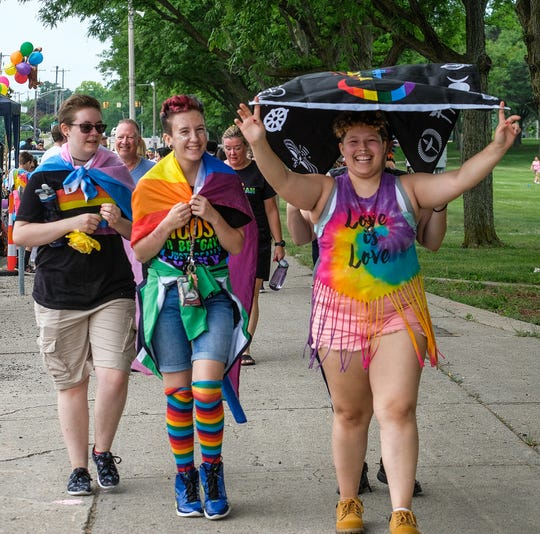 Saturday's Michigan Pride Parade will follow a route that starts at Grand Avenue and ends on the steps of the State Capitol.