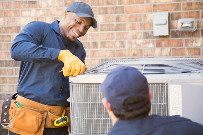 Check the condition of your air conditioner and replace your filter.